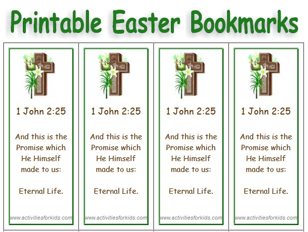 Print 8 Custom Printable Easter Bookmarks for your classroom.  Use a short poem or bible verse.  Free, custom, printable bookmarks for #Easter