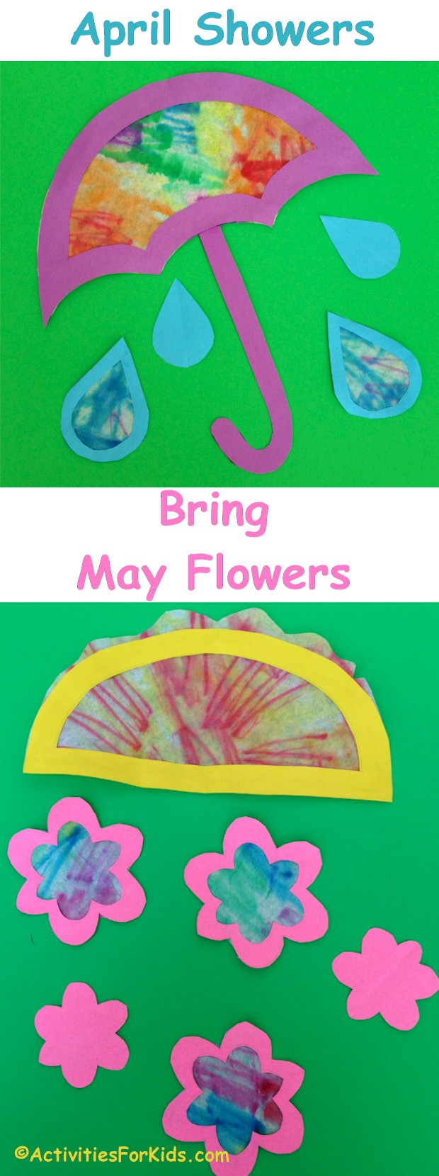 april showers bring may flowers craft for kids