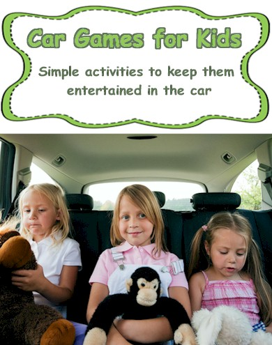 Super easy ways to keep kids occupied when in the car - Car games for kids and printable games from  ActivitiesForKids.com #cargames