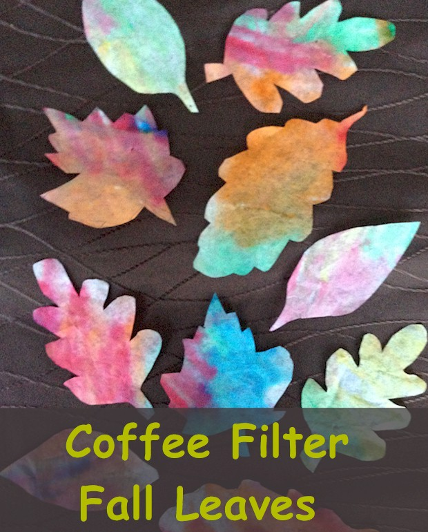 Easy autumn craft for kids.  Coffee Filter Leaves - Colorful Fall leaves is an easy and inexpensive classroom project for kids.