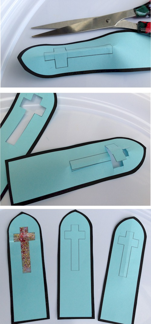 Stained Glass Cross Bookmarks