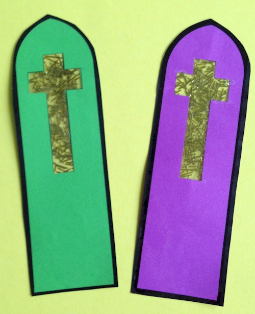 Stained Glass Cross Bookmark craft