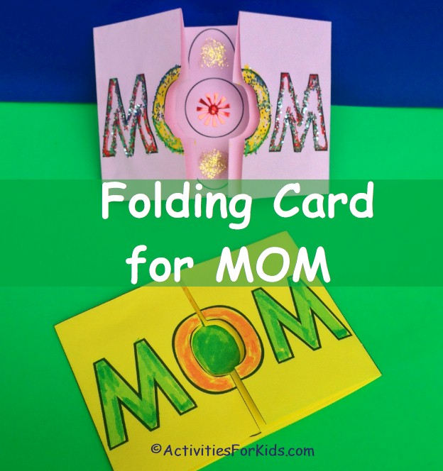 Printable card for Mother's Day - easy to print out, cut apart and deocrate for Mom from Activities For Kids.