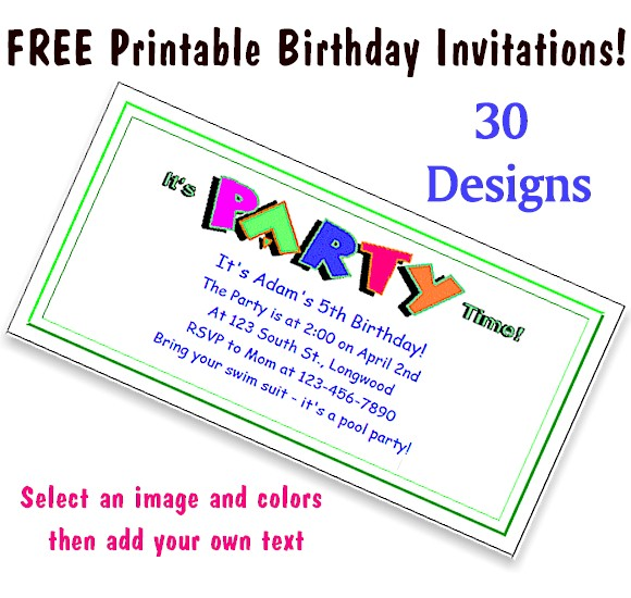free printable party invitations for kids, Invitation templates