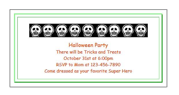 Printable #invitations for kids.  #Halloween ActivitiesForKids.com