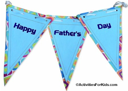 Printable Father's Day Banner, Kids can print out and decorate for Father's Day craft. #fathersday