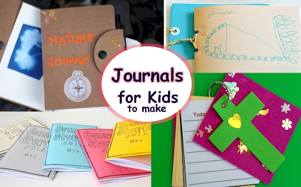 A collection of cute journals that kids can make - Prayer Journal, Art Journal, Summer Journal and more at ActivitiesForKids.com.