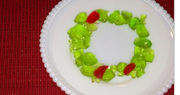 Hard candy makes cute little holiday wreaths to use for decorating cakes and cupcakes from ActivitiesForKids.com