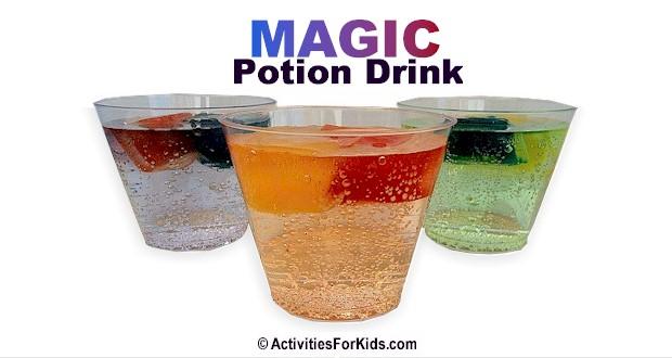 Magic Potion Drinks at ActivitiesForKids.com