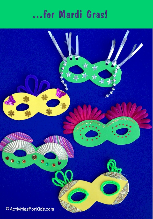 how to decorate a mardi gras mask
