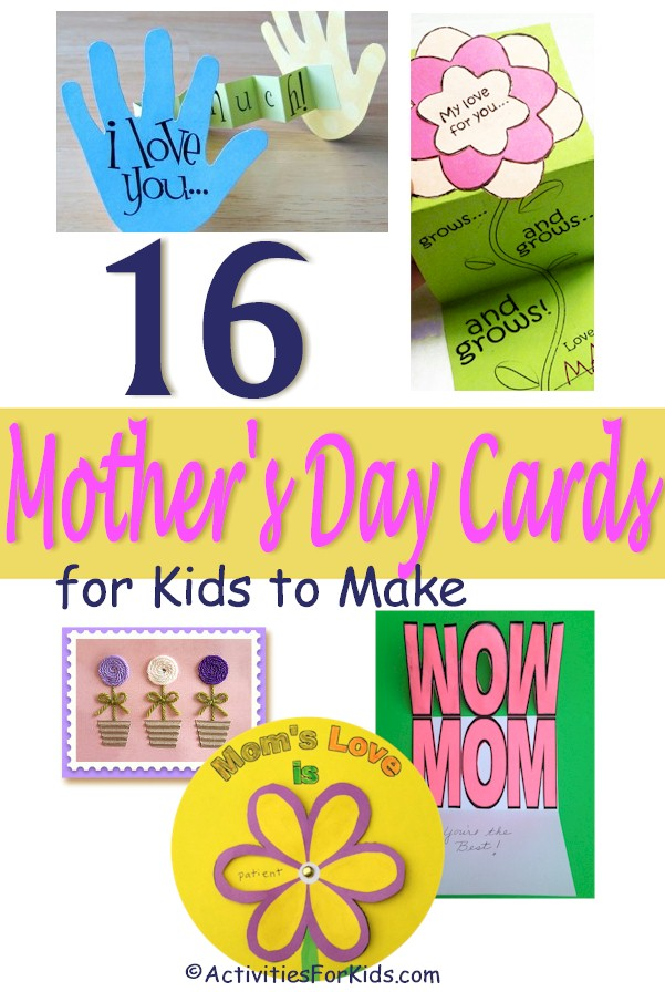 Easy Mother's Day Cards for Kids to Make, classroom Activities for Kids.