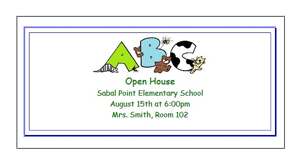 Printable #invitations for kids or parents.  Open House invitations for the classroom.  #OpenHouse ActivitiesForKids.com
