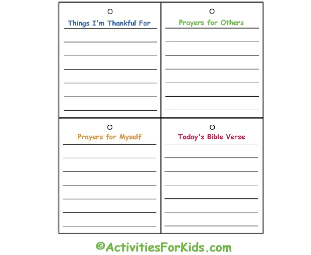 Printable Prayer Journal pages for from ActivitiesForKids.com.