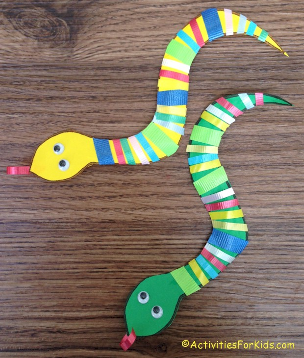 ribbon snake craft for kids