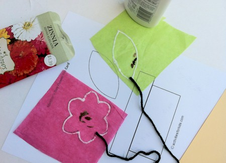 Seed packet craft for kids to make a cute Mother's Day Card - from ActivitiesForKids.com