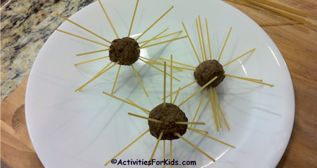 #aprilfoolsday fun for kids. Spaghetti IN Meatballs