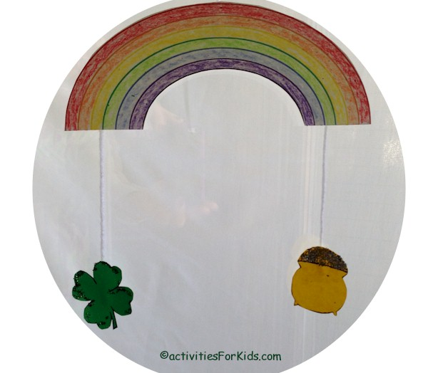 St. Patrick's Day Mobile craft for kids at ActivitiesForKids.com