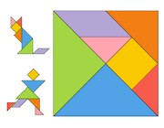 Printable Tangram Puzzle for Kids #freeprintout from ActivitiesForKids.com #chinesenewyear