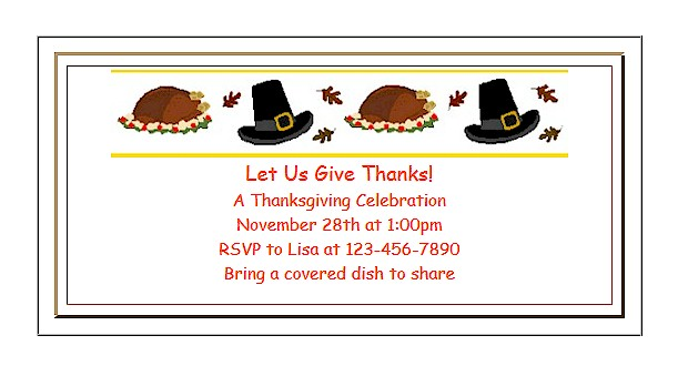 Printable #invitations for kids.  #Thanksgiving ActivitiesForKids.com
