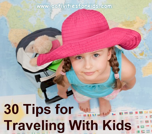Lots of suggestions for making travel a little bit easier when you travel with kids at ActivitiesForKids.com