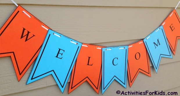 Printable Back to School Banners from ActivitiesForKids.com #backtoschool