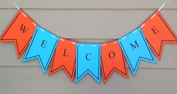 Welcome Banner for #Backtoschool from Activities for Kids