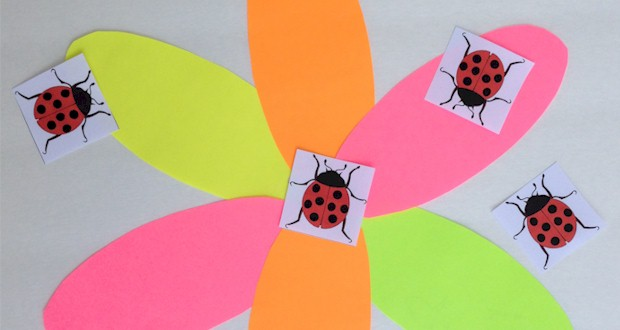 Garden Party Games, pin the ladybug on the flower printables at ActivitiesForKids.com