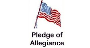 Free printable from ActivitiesForKids.com.  Pledge of Allegiance bookmarks print 6 per page.