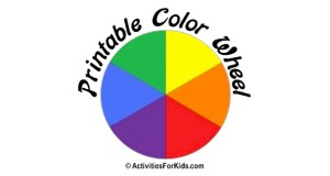 Teach kids about primary and secondary colors with this printable color wheel template that kids can color.  ActivitiesForKids.com