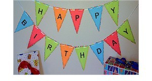 Free printout for a Happy Birthday Banner.