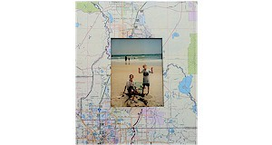 Keep vacation memories going with this frame created from a recycled map.  Template and instructions at ActivitiesForKids.com.