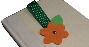Fun Foam Flower Bookmark