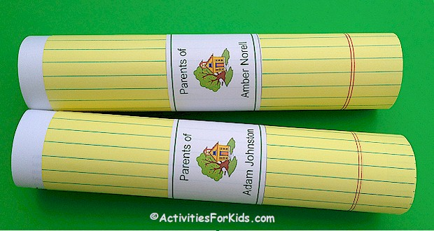 Back to School - Open House printable at ActivitiesForKids.com