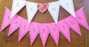 Custom Valentine Banner to print at ActivitiesForKids.com
