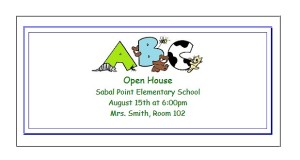 Great for the classroom.  Free printable invitations to announce open house or other classroom events.  ActivitiesForKids.com