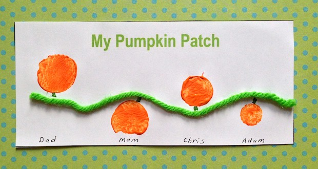 carrot stamp  family pumpkin patch craft