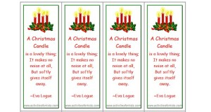 Christmas Candle Bookmarks