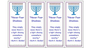 Hanukkah Bookmarks