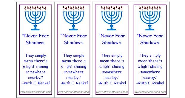 Hanukkah Bookmarks – Activities For Kids
