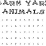 Barnyard Animals Word Search