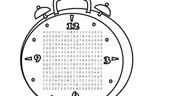Time Word Search – Activities For Kids
