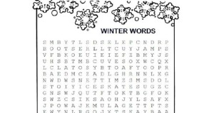 Winter Words Word Search