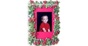 Holiday Puzzle Piece Frame