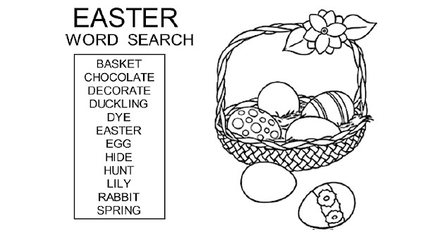 Classroom Ideas For Earth Day ~ Easter word search for kids