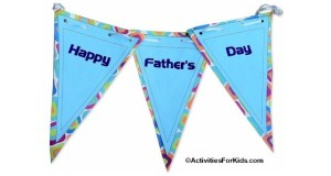 Printable banner for Father's Day.