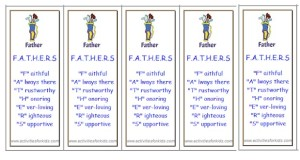 Printable bookmarks for Father's Day