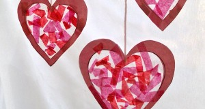 Valentine's Day sun catchers.. Four heart shapes to include.