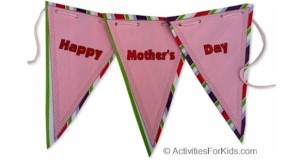 Printable banner for Mother's Day