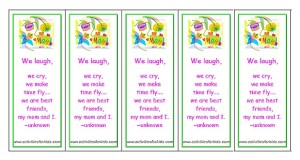 Printable bookmarks for Mother's Day
