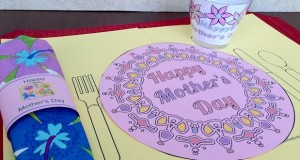 Printable placemat for Mother's Day